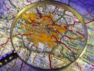 обои Карта Лондона под лупой фото