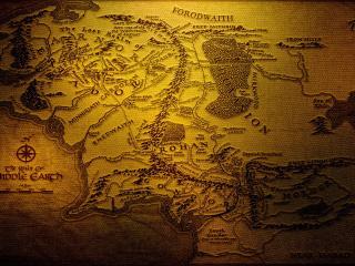 обои Карта местности с горами и лесами фото