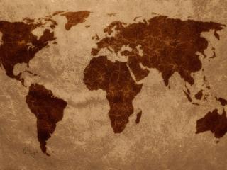 обои Карта планеты в коричневых тонах фото