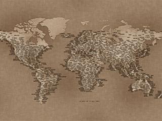 обои Карта с надписями фото