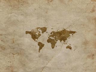обои Маленькая карта на старой бумаге фото