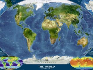 обои Яркая карта на картине фото