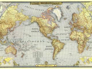 обои Карта земли с Америкой по центру фото