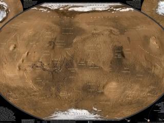 обои Карта Марса фото