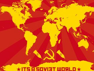 обои Карта мира в комунистическом стиле фото