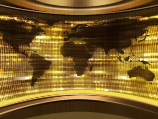 обои Карта на стекле фото