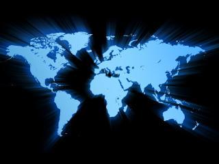 обои Карта с голубой неоновой подсветкой фото