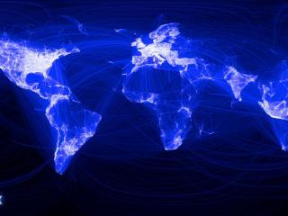обои Карта социальной сети фото