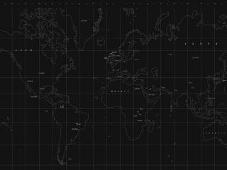 обои для рабочего стола: Темная карта с разметкой