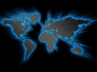 обои Темная карта подсвеченная неоном фото