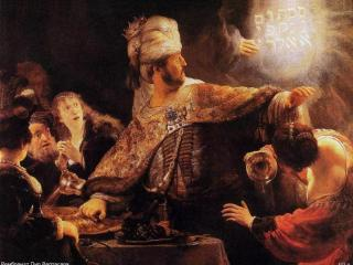 обои Рембрандт - Пир Валтасара фото