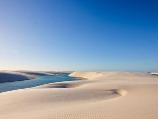 обои Песочные просторы и река фото