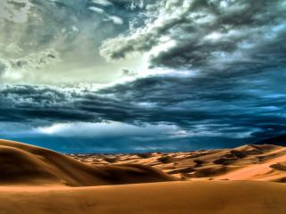 обои Синее небо над пустыней фото