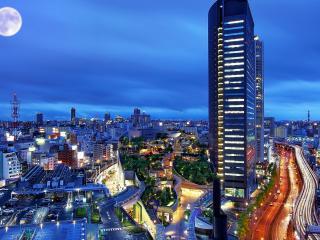 обои Ночь в городе фото