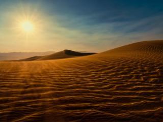 обои Солнце в пустыне фото