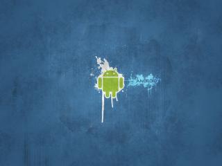 обои Android синий фото