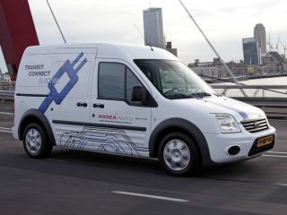 обои AZD Ford Transit Connect Electric 2011 в пути фото
