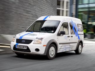 обои AZD Ford Transit Connect Electric 2011 на дороге фото