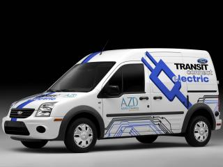 обои AZD Ford Transit Connect Electric 2011 сила фото