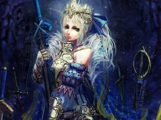 обои Белокурая девочка принцесса фото