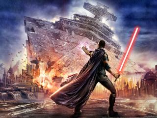 обои Star wars воин в плаще фото