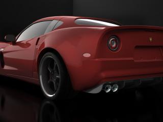 обои SV Motor SV 9 Competizione красная фото