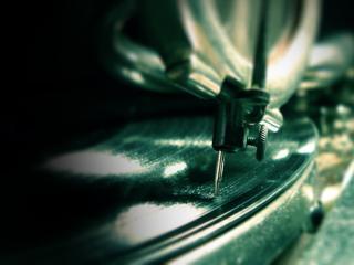 обои Игла старого грамофона фото