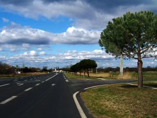 обои Автострада с разметкой и поворот фото