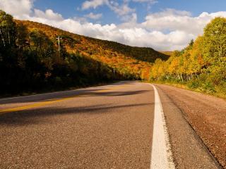 обои Дорога в теплую осеннюю погоду фото