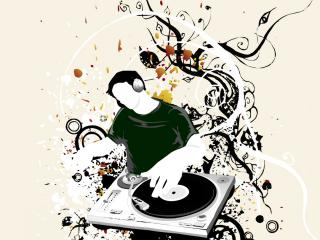 обои DJ и пластинка фото