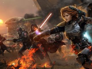 обои Star wars,   нападение фото