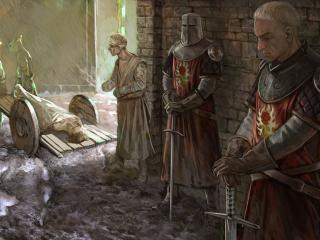 обои The witcher,   жизнь средневековья фото