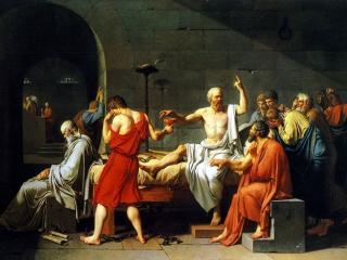обои Давид - Смерть Сократа фото