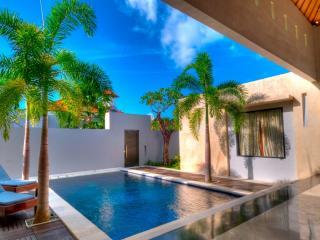 обои Домашний бассейн с пальмами фото