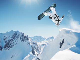 обои Сальто на сноуборде фото