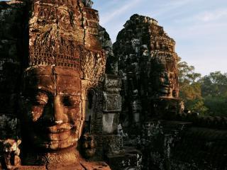 обои Статуи индийского храма фото
