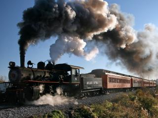 обои Красивый ретро поезд фото