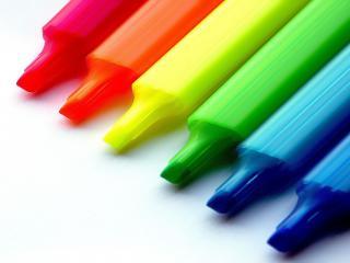 обои Шесть цветных карандашей фото