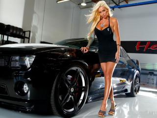 обои Chevrolet и девушка фото