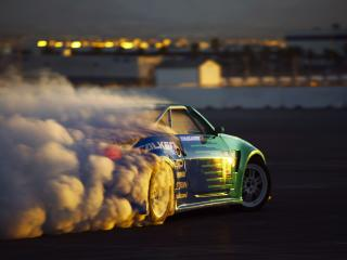 обои Машина и дым фото