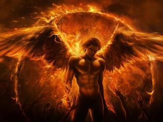 обои Огненный ангел фото