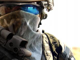 обои Солдат в боевых доспехах фото
