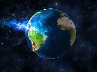 обои Земля в космосе фото