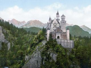 обои Старинный замок на скале фото