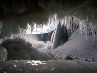 обои Ледовые пещеры фото