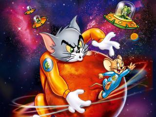 обои Мультяшные персонажи кот и мышь фото