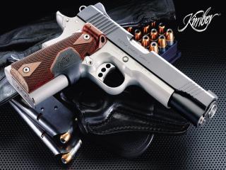 обои Пистолет,   пули и перчатка фото