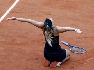 обои Радость теннисистки фото