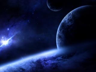 обои Мерцание звезд в космической галактике фото