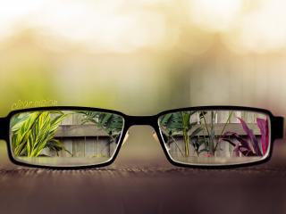 обои Очки с видом и надпись фото